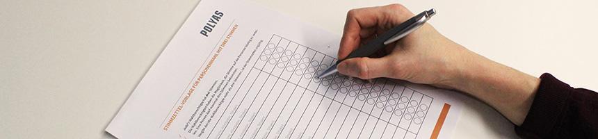 Stimmzettel-Vorlagen für Aufsichtsratswahlen